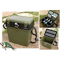 FISHINGMAD New Tackle Seat Box, with Carry Strap and Seat Pad