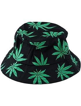 Drawihi, sombrero de algodón estampado, versión coreana, hoja de arce, sombrero Fischer de verano, algodón, verde...