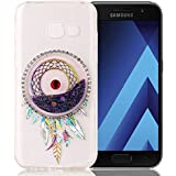 """Nnopbeclik [Coque Samsung Galaxy A3 2017 Silicone] Paillettes Briller Style Backcover Doux Soft Housse pour Samsung Galaxy A3 2017 Coque silicone """"A320F"""" (4.7 Pouce) Dreamcatcher Style Protection Antiglisse Anti-Scratch Etui """"NOT FOR A3 2016/2015"""" - [Pourpre]"""