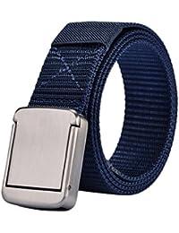YAANCUNN Cinturones Hombre Cinturón Elástico Trenzado Con Hebilla Para  Jeans Cinturones ... e622db23a41a