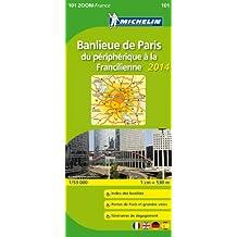 Carte Banlieue de Paris, du périphérique à la Francilienne 2014 Michelin