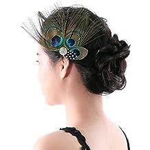 clip de pelo tocado de pelo de plumas aukmla accesorios para fiesta y noche