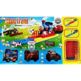 Metro Toys Tomas & Friends Battery Operated Train Track Toy Set With Sound And Flashing Headlights