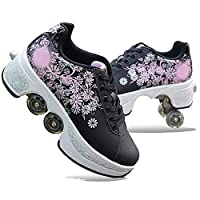 Wedsf Deformation Roller schoenen kinderen outdoor sportschoenen volwassenen studenten skateboard skateboard skaten instelbare Quad Skate rolschaatsen, 39