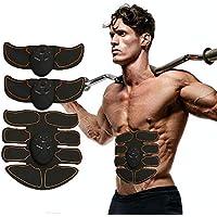 ZunBo Electroestimulador Muscular Abdominales Masajeador Eléctrico Cinturón, EMS Ejercitador del Cuerpo de los Músculos de Abdomen/Brazo/Piernas/Cintura Entrenador Muscular Hombre/Mujer