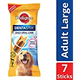 Pedigree Dentastix, Oral Care Dog Treat for Adult Large Breed (25 kg+) Dogs – 270 g Weekly Pack (7 Sticks)
