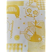 Amarillo pollo Mantel diseño por wjdhome, limpiar mantel de hule \ PVC. Tamaño: 140cm x 200cm).