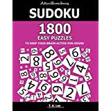 Sudoku: 1800 Easy Puzzles To Keep Your Brain Active For Hours: Active Brain Series Book