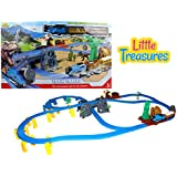 Enhance Your Childs Creativity With Train Tracks Play Set; Preschoolers Love Building Their Own Toy Train Track, Exciting Train Journey Among Dinosaurs, Stimulating With Led Lights & Sound Effects