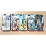 Fashionable Stylish Mixed 3D Nature Scenery Disney Design Hard Rubber Case for iPhone 5G / 5S