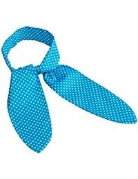 Türkis-blaues Nickituch mit weissen Punkten als Band (8 x ca. 97 cm)