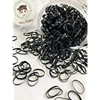 MissTiara 1 box pack women and girl's hair rope one-time rubber band do not hurt hair rubber band (black)