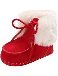 ... ❤ Botas de Peluche para bebé, Botas de Nieve para el Invierno Toddler Girl Boys recién Nacido Antideslizante bebé Botas de…
