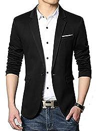 BELARIO Men's Black Casual Cum Party Wear Blazer