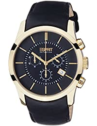 Esprit Collection Herren-Armbanduhr Eros Chrono Chronograph Quarz Leder EL101741F04