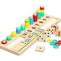 Kids Matchinng Puzzle Multi Funcional Madera Juguetes Aprendizaje Temprano Educativo Matemáticas Juguete Rompecabezas 3D