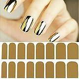 Pegatinas adhesivas decorativas para uñas, diseño de suave lámina de oro