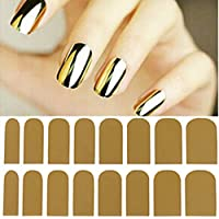 Fashion Smooth Gold foil Armour adesivo nail art Decoration sticker patch Wraps