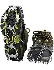 Crampon à Neige Terra Hiker Antidérapante Antiglisse pour Chaussures à 18 Dents pour Randonnée Trekking Marche