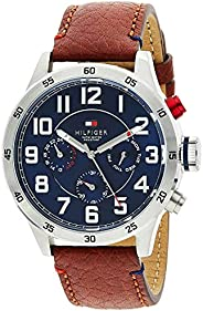 Tommy Hilfiger Mens Quartz Watch, Analog Display and Leather Strap 1791066