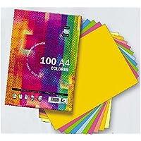 Papel A4 80 Gramos Tauro-Extra 100 Hojas (10 Colores de Tonos Fuertes por