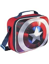 Marvel 2100001618diseño escudo Capitán América 3d bolsa para el almuerzo refrigerador aislado