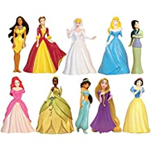 Disney Princess 10 pc Figure Collection Cinderella, Sleeping Beauty, Belle, Ariel, Pocahontas, Tiana, Jasmine, Snow White, Rapunzel, Mulan by Disney