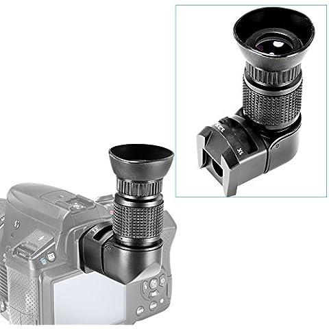 Neewer® 1x/3.2X Ingrandimento Mirino angolo retto con 5adattatori di montaggio per fotocamera DSLR come Canon, Nikon, Pentax, Minolta, Dynax, Samsung, Olympus