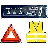 Kit de Primeros Auxilios 3 en 1 para Coche – Trio con Chaleco Reflectante Kit de Primeros Auxilios triángulo de Advertencia