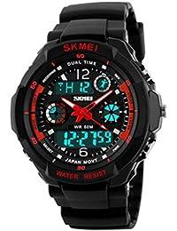 Reloj doble / deportes al aire libre de los hombres / forma electrónica impermeable de la montaña / reloj multi-funcional del salto de la personalidad , large red
