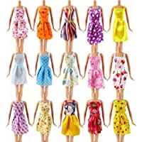 Set of 20 Randomly Selected Barbie Sindy sized dolls short dresses, shoes, boots and accessories- posted from London by Fat-Catz