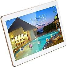10.1 pulgadas de Tablet PC Android 5.1 Lollipop 3G SIM Dual IPS pantalla 1280x800 desbloqueado Smartphone tabletas PC 1 GB, 16 GB de memoria, Wi-Fi Quad Core, 2MP frontal y 5MP de la cámara trasera 5000 mAh