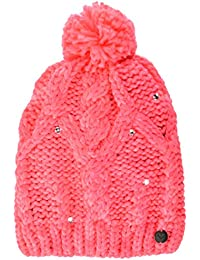Roxy Shooting Star Girl Beanie Gorro, Mujer, Rosa (Emberglow Solid), Talla