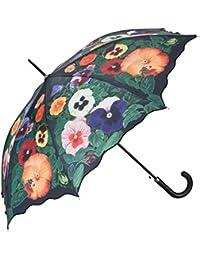 Von LILIENFELD Paraguas Automática Mujer Motivo Floral Pensamientos