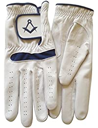 Gloves4Masons Real Leather Golf Glove with Masonic symbol S&C - Left or Right Hand