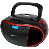Roadstar RCR-3750UMP/RD Radio portable Noir, Rouge