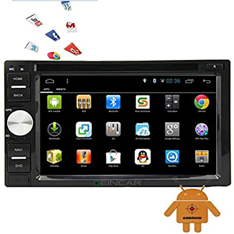 EinCar 6.2 '' HD Touchscreen 2 DIN Android stereo navigazione Quadcore Car Audio, Multimedia Video Audio Unit¨¤ principale FM / AM / RDS Radio WIFI BT Specchio link dvd palyer