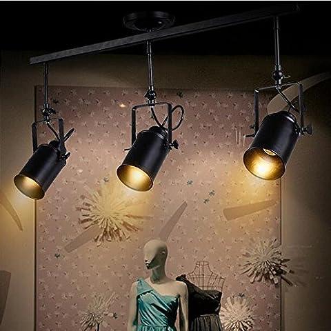 LLYY-Polo vintage creativo di faretti americano industria leggera montato il Bar living room e negozi di abbigliamento hanno portato lampadario della Hall di faretti , 4 head