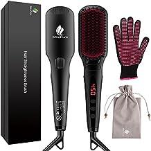 Cepillo alisador de cabello mejorado por MiroPure, cepillo alisador iónico 2 en 1 con función