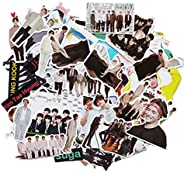 BTS Stickers Luggage Case Skateboard Guitar Laptop Cell Phone Travel Door Car Bike Bicycle Stickers (BTS-53PCS