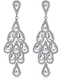 1e50fdc511a8 Yiyue Señoras Moda Aretes Elegantes Aretes 925 Aretes Oreja Colgante Con  Diamond Earrings Pendientes Antiguos