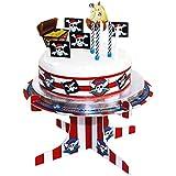 erdbeer-party - Party Dekoration Kuchen Deko Set - Piraten Party - 19 Stück, Mehrfarbig