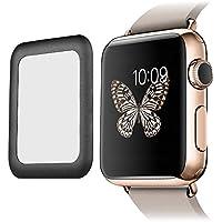 niceEshop(TM) Protecteur d'Ecran en Verre Trempé Ultra-mince de 0,2mm pour Apple Watch Series 2 de 42mm (Noir)