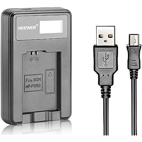 Neewer® Cargador de Batería USB para Batería Recargable FW50 para Sony NEX-3 NEX-5 NEX-6 NEX-7 NEX-C3 NEX-F3 SLT-A33, SLT-A37, SLT-A55, A3000, A3500, A5000, A5100, A6000, A7, A7R, A7S, A7 II