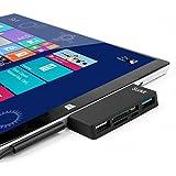 Surface Pro Hub / lector de tarjetas de adaptador, alta velocidad USB 3.0 y USB 2.0 para Transfort ratón o el teclado con ranura SD (HC) y lector de tarjetas TF para Microfoft Surface Pro 3/4