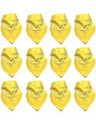 Lot de 12 Bandanas avec motif Paisley original en jaune