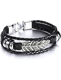 Echtschmuck Clever Armband Leder Schmuck Armbänder Damen Herren Modeschmuck Armreif Surferarmband Ringe