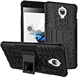 CEDO® for OnePlus 3 / Oneplus 3T / One Plus 3/1 + 3 T Edge to Edge Full Screen Hard Armor Hybrid Bumper Kickstand Back Case Cover (Black)