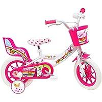 """Denver 12"""" Unicorn, Bicicletta Bambino, Bianco-Rosa"""