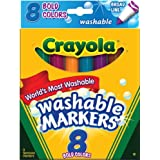 Crayola Bold Washable Board Line Markers, Multi Color (8 Counts)
